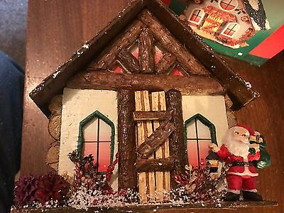 "1998 Lincolnshire Collection ""Christmas Chalets"" Cottage with Santa Ornament"