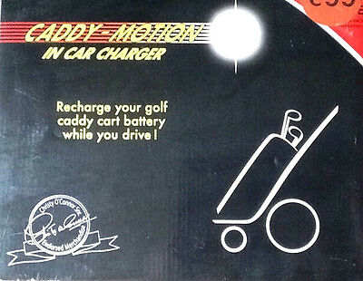 Dragons Den's: New Caddy Motion Golf Trolley In Car Battery Charger & Cradle.