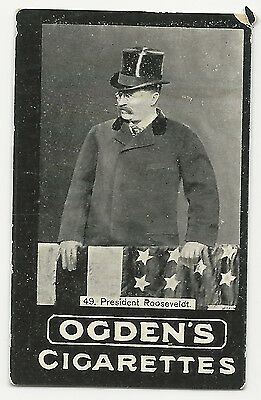 Ogden's Cigarettes Tobacco Card Pres. Theodore Rooseveldt (spelling) Real Photo