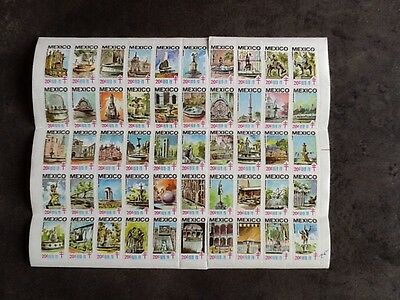 Timbre Vignette Stamp Mexico Red Cross 1978/79 Sheet Of 50 Different Mnh