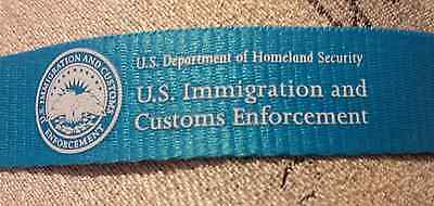 US  Department Homeland Security Immigration Customs Enforcement ICE ID Lanyard