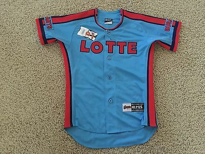 VTG Lotte Giants #47 Korean League Baseball Busan KBO Sewn Jersey Women's M