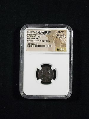 Greek Coin Alexander III The Great  336-323 BC Lifetime issue NGC Ch VF  3008
