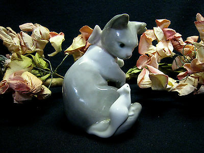 """LLADRO """"Cat with Mouse"""" 1984  #5236 figurine..made is Spain"""