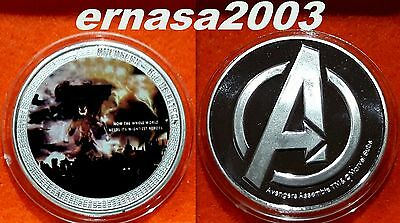 Marvel - Avengers - Los Vengadores - Age Of Ultron - Medalla 29 Grs 40 Mm Capsul