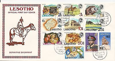 Lesotho 1980 Previous Issues Surcharged FDC Z0