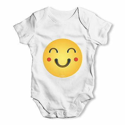 Twisted Envy Happy Face Emoji Baby Unisex Funny Baby Grow Bodysuit