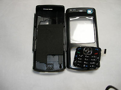 New!! Black Housing / Fascia / Cover / Case for Nokia N70 with keypad