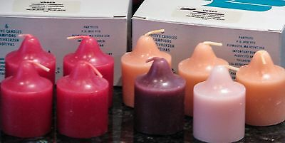 9 Authentic Partylite® Votive Candles (4 Cranberry + 5 other as pictured) - NEW