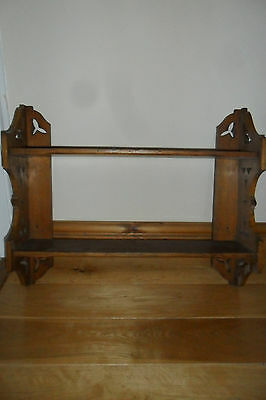 Lovely Antique Arts & Crafts  Wood Hanging Shelf.