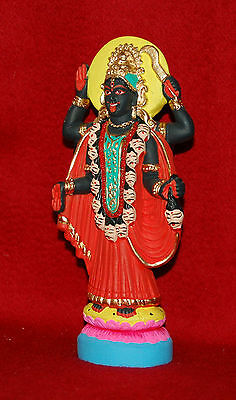 Kali Ma - Divine Mother Kali - Hand Painted Ganges Clay Statue - New