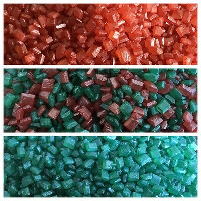 30g Edible Red Green Sugar Nuggets Jewels Gems Cake Decorations Sprinkles