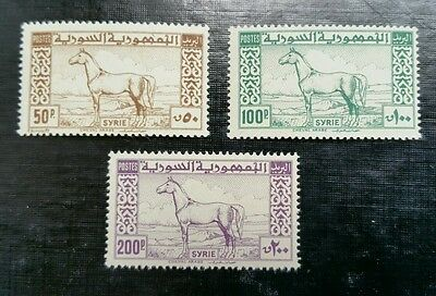 Syria, 1946-47, Sc 325-327, MNH, complete Arab Horse set, rare to find MNH