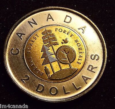 "Canada 2011 2 Dollars Toonie ""Parks' Commemorative MS Uncirculated"