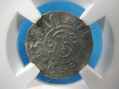 Silver Denier from Medieval France, Souvigny 1080-1213 AD NGC VF 20