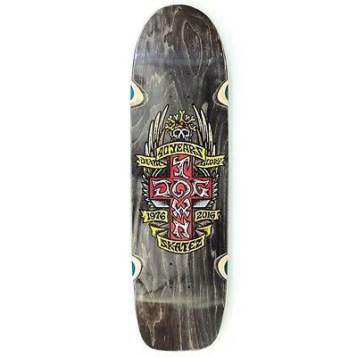 Dogtown 40TH ANNIVERSARY 40 YEARS CROSS POOL Skateboard Deck BLACK STAIN