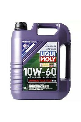 Liqui Moly Synthoil Race Tech GT1 10w60 Fully Synthetic Oil 5L 1391