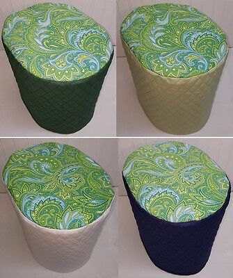 Quilted Green Blue Paisley Keurig 2.0 Coffee Maker Cover READY TO SHIP!!