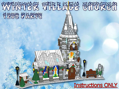 Lego Winter Village Church -INSTRUCTIONS ONLY- fits 10216 10222 10249 10199 etc