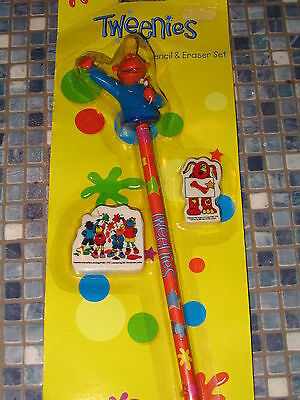 Tweenies Jake Pencil And Rubber Set Very Rare Brand New!!