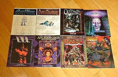 Lot of 7 White Wolf RPG Sourcebooks and Player Aids