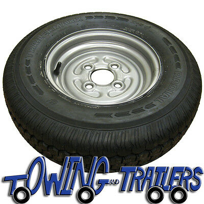 "145R10 10"" 4 Ply 4x100mm PCD Trailer Wheel and Tyre"