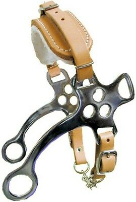 Fleece Lined Light Oil Leather NP Hackamore Bit Western Horse Tack