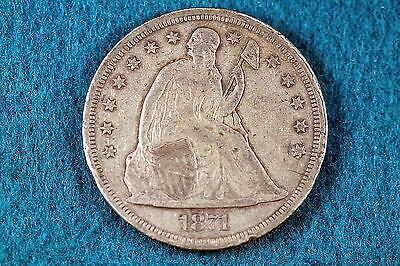 ESTATE FIND 1871 Seated Liberty Dollar!! #C4390
