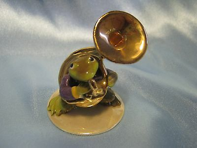 Hagen Renaker Toadally Brass Frog Tuba Player Figurine Miniature 3252 FREE SHIP