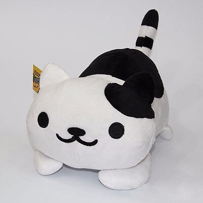 "Anime 14"" Game Neko Atsume Kitty Black Cat Soft Plush Toys Stuffed Doll Gift"