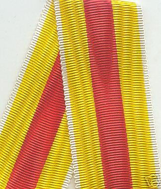 6 INCH LENGTH WWI Imperial German Baden Merit Medal Ribbon cross