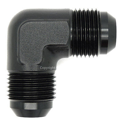 AN-10 BLACK  90 DEGREE MALE FORGED ELBOW Coupler Fuel Oil Hose Fitting Adapter