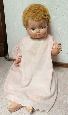 """Vintage 24"""" Effanbee Sweetie Pie 1940s Flirty Eyes Composition /Cloth Body"""