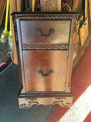 Old 1940's Mahogany Night Stand For Restoration