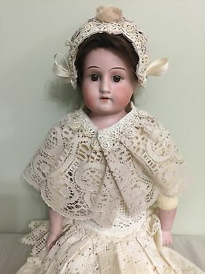 """Antique Doll Armand Marseilles Bisque On A Kid Body 16"""""""