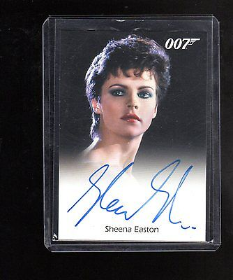 2016 James Bond Archives  Spectre Edition Sheena Easton autographed card