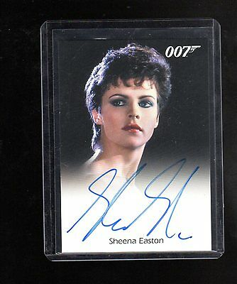 2016 James Bond Archives  Spectre Edition Sheena Easton autographed card #1