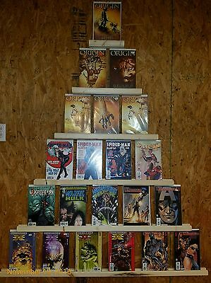 Comic Book Display set of 6.  Holds 21 comic books. Shelf lot. Marvel. DC. Old