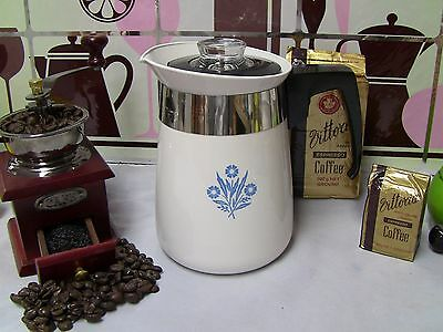 Corning Ware - 4 Cup Coffee Percolator Stainless Steel inserts Corningware P-124