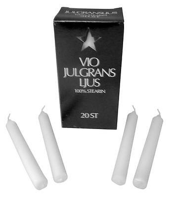 """Angel Chime Candles German Christmas Tree Candles  20 Per Box 1/2""""x4 3/8"""" White"""