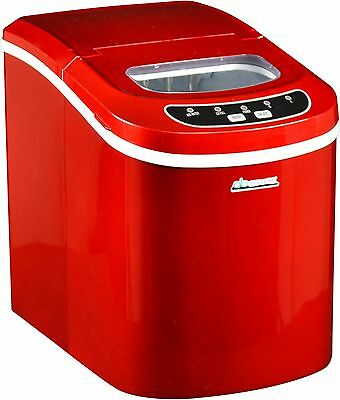 Avalon Bay AB-ICE26R Portable Ice Maker, Red (Automatic overflow protection) HVI