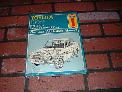 New Old Stock Haynes Manual For Toyota 1000. 1974 To 1978.