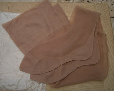VINTAGE 1950's TAN FULLY FASHIONED SEAMED STOCKINGS CUBAN HEEL IN PACKET