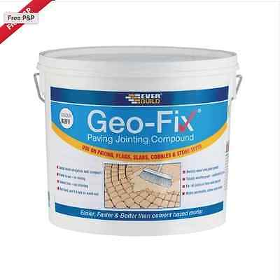 Everbuild Sika Geo-Fix Paving Patio Jointing Compound BUFF  20Kg Mortar Geofix