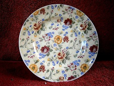 PRETTY  RED  &  YELLOW  ROSES  CHURCHILL  PORCELAIN BREAD & BUTTER PLATE   17cm.