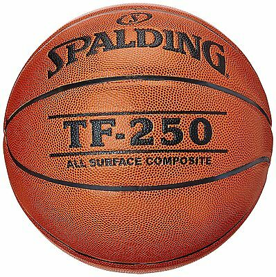 Spalding TF 250 Basketball Official Size 6 and 7 Outdoor Indoor Basket Game Ball