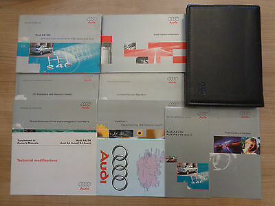 Audi A4/S4 Owners Handbook/Manual and Wallet 96-01