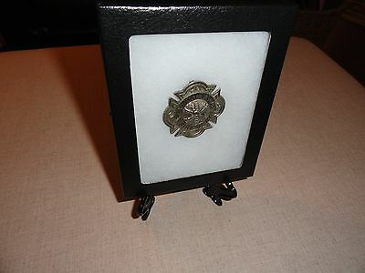 Rare Antique New York Central Valley Fire Department Badge Firefighter Woodbury