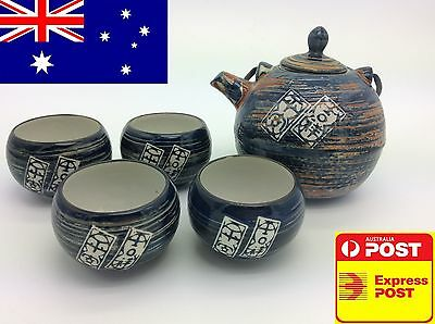 Porcelain tea pot set with Chinese best wishes characteristics home decoration