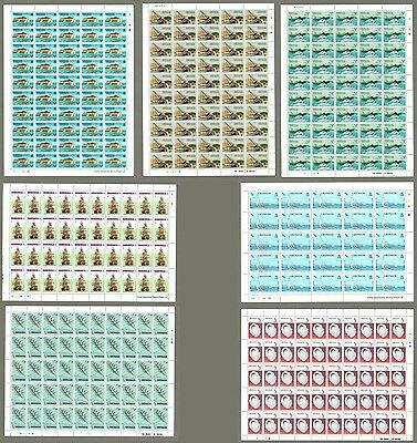 Caribbean Collection Of 7 MNH Full Sheet Marin, Boats & ships Topic